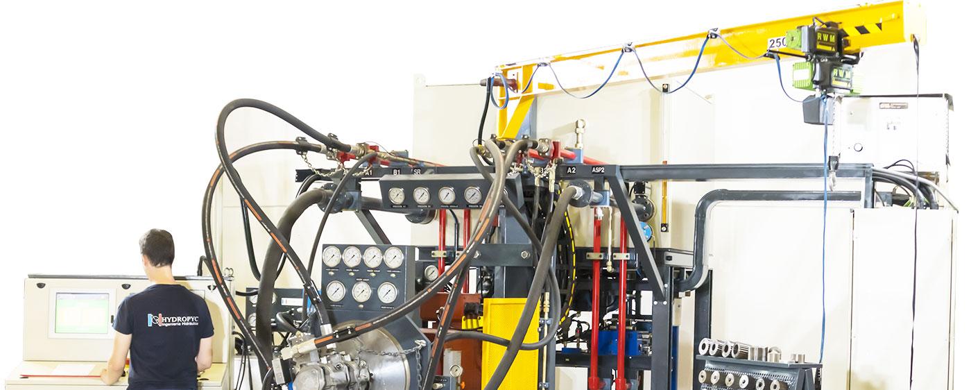 Banco de pruebas de bombas hidráulicas